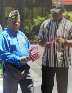 Commander Jordan, Post 12180, joins other veterans during National Flag Day.